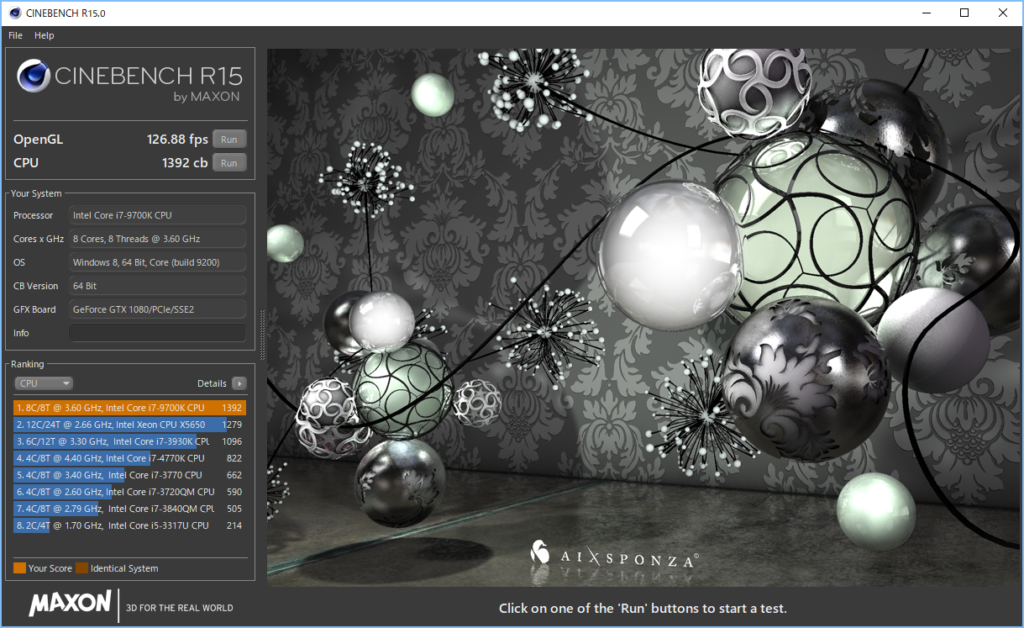 DAIV-NG7630S1-M2S5 CINEBENCH R15 CPU