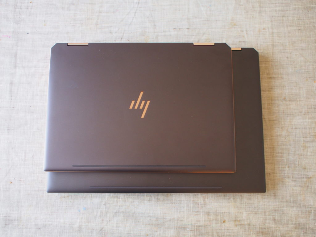 HP Spectre x360 13 とHP Spectre x360 15 の外観