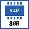メモリ 8GB