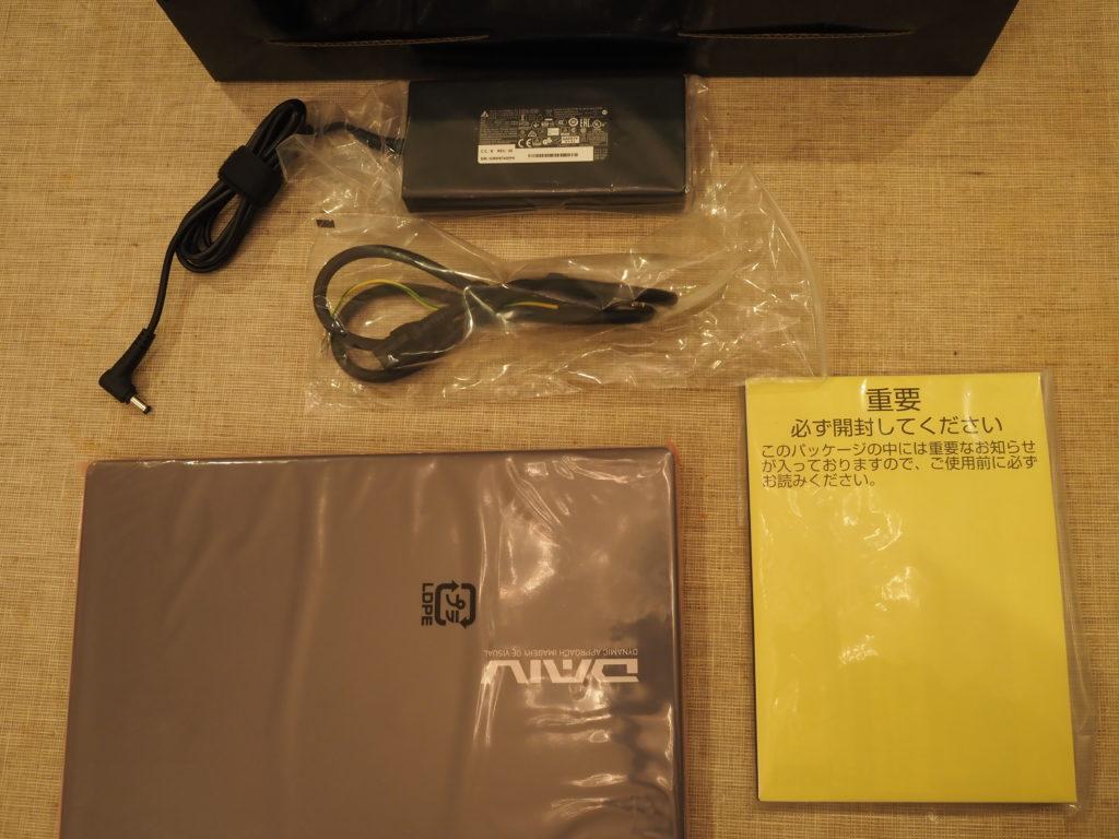 DAIV 3N :本体と添付品