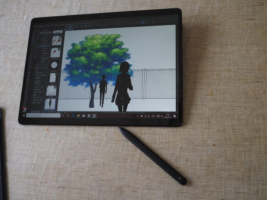 Microsoft Surface Pro X:クリップスタジオペイント EX