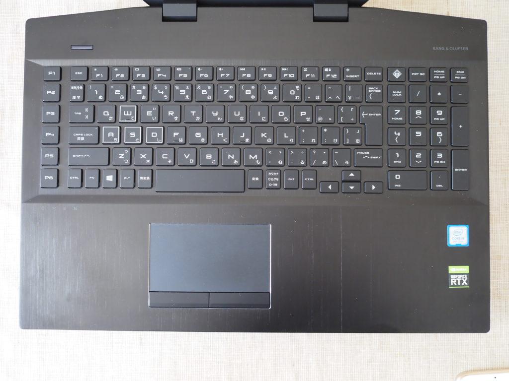 キーボード:OMEN by HP 17-cb0000シリーズ
