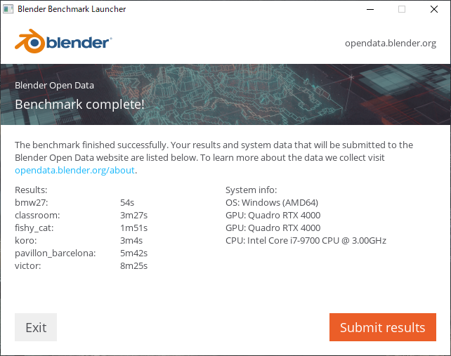 Blender Benchmark(CUDA)