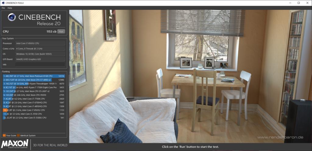 CINEBENCH_R20:LAVIE Direct PM750/NA