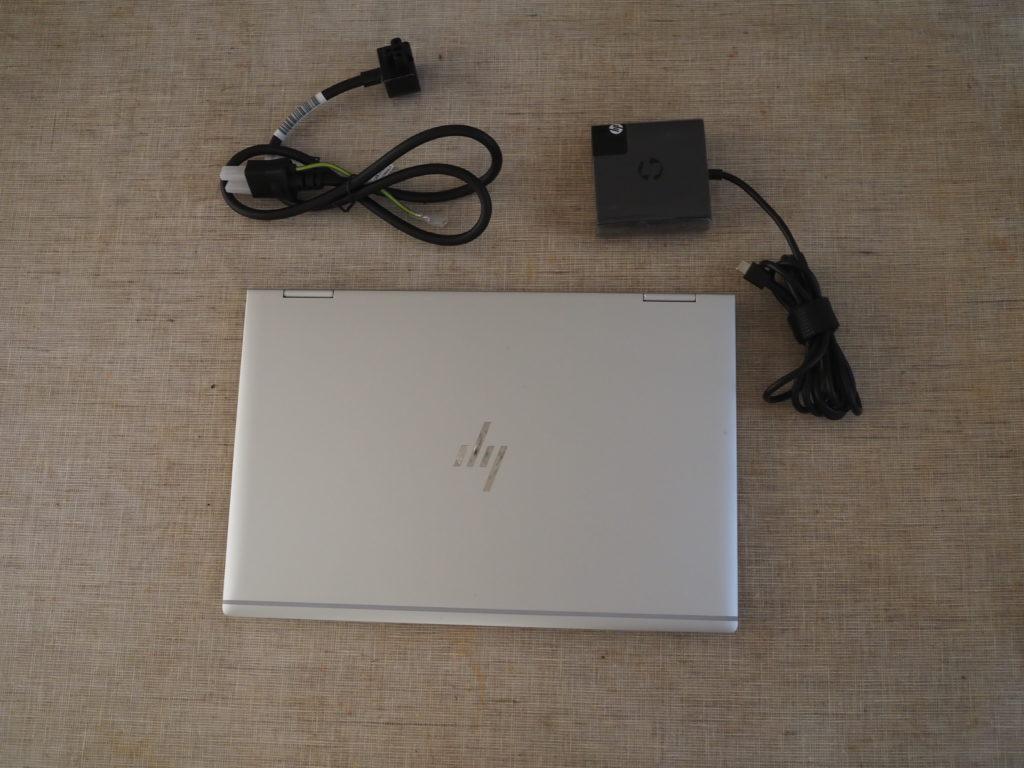 本体外観および添付品:HP EliteBook x360 1040 G6