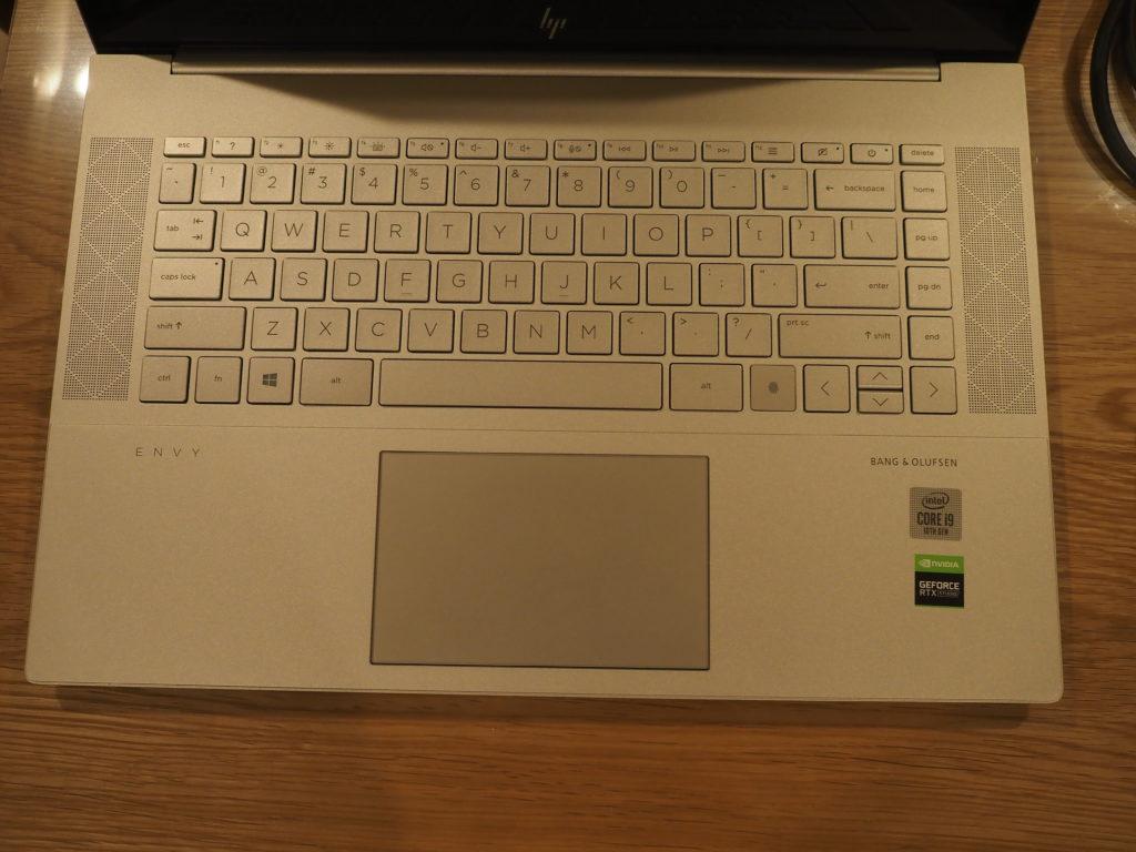 キーボード:日本HP ENVY 15-ep0003TX クリエイターモデル