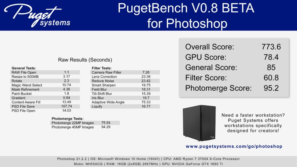 Adobe Photoshop CC ベンチマーク結果:DAIV 5D-R7