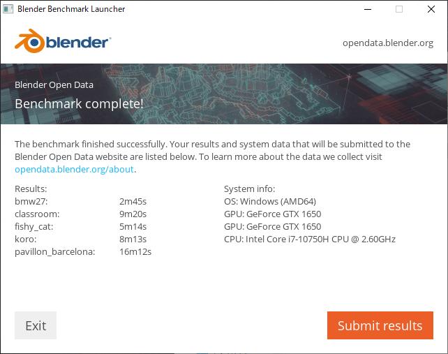 Blender(CUDA) ベンチマーク結果:mouse K7