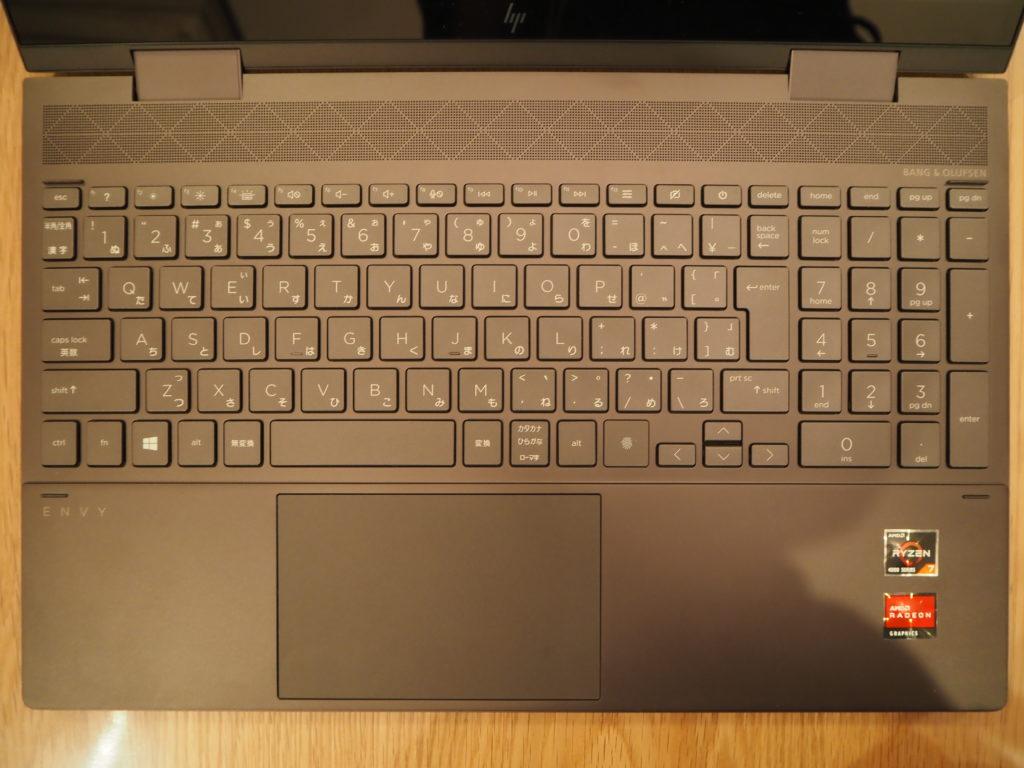 キーボード:ENVY x360 Laptop - 15-ee0020AU