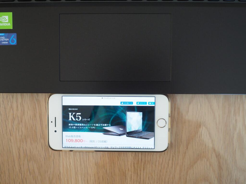 スライドパッド:mouse K5