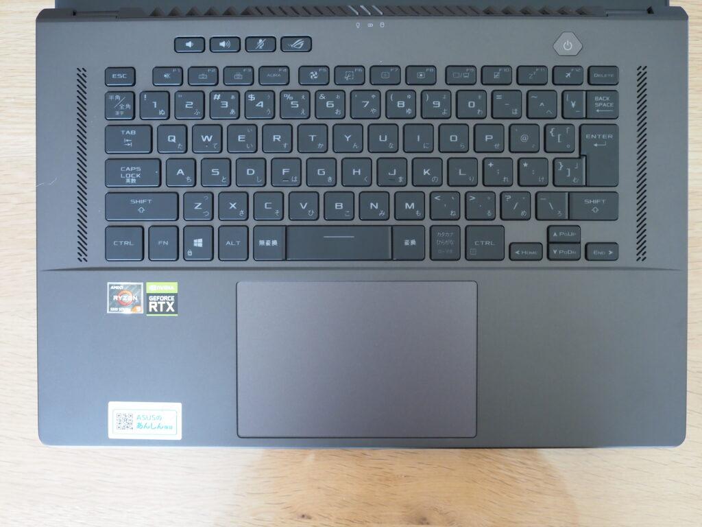 キーボード:ROG Zephyrus G15 GA503QS GA503QS-R9R3080G