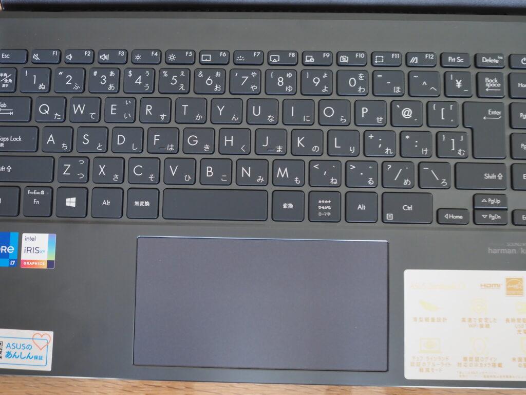 キーボード:ASUS ZenBook 13 OLED UX325EA (UX325EA-KG409TS)
