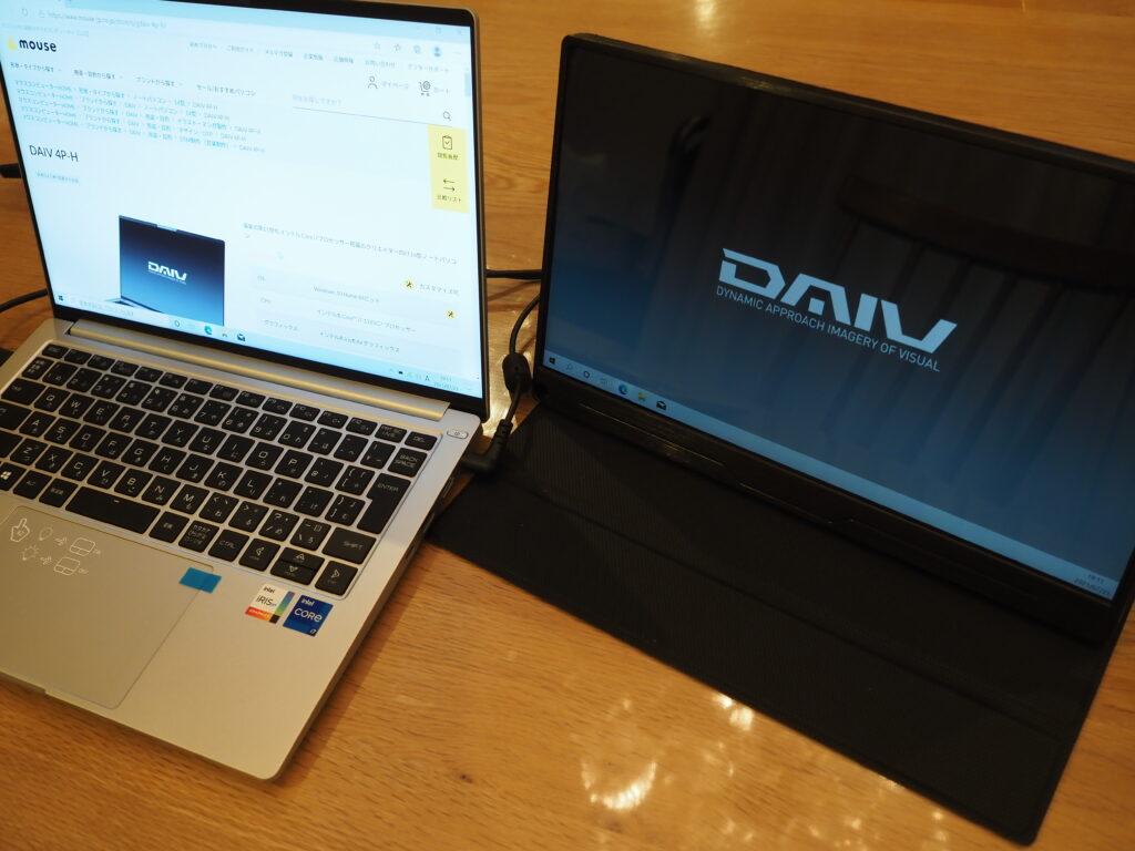デュアルディスプレイ:DAIV 4P-H